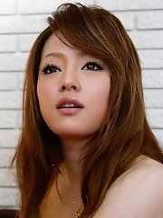 Innocent looking Japanese honey Ria Sakurai covered in cum
